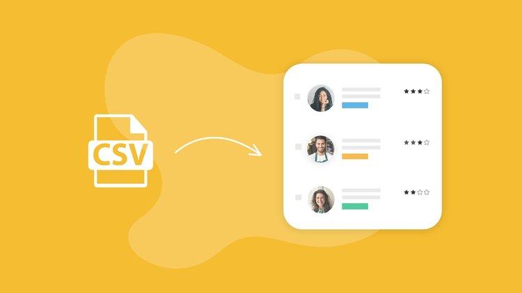 Representation de la fonctionnalité d'import CSV d'une talent pool de candidats existant sur un logiciel de gestion de candidat