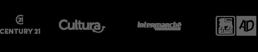 logos d entreprises evoluant dans le retail utilisant un logiciel de recrutement